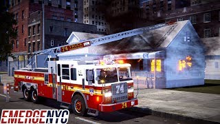EmergeNYC Engine 31 & Ladder 74 First Due To A Fully Involved Fire In A Private House