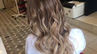 видео балаяж на темные волосы