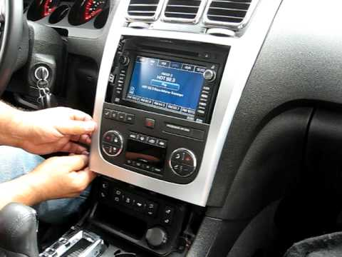 how to remove radio navigation dvd from 2008 gmc acadia radio rh youtube com 2010 GMC Acadia 3rd Row GMC Acadia Accessories