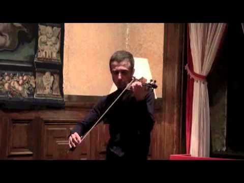 "Tedi Papavrami plays Ysaye's Sonata no.2 for solo violin,-"" Obsession"""