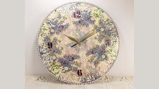 #63 decoupage of clock for beginners - diy wall clock decoration ideas