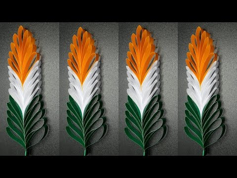 BEAUTIFUL TRI COLOR PAPER PALM LEAVES (this is my 100th video)