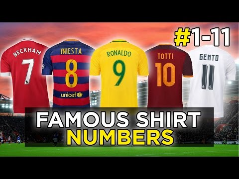 The Best Footballers To Play For Each Shirt Number | #1-11