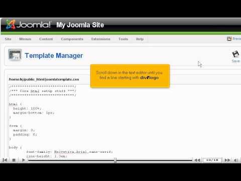 How To Change Your Site's Logo In Joomla - Joomla Tutorials