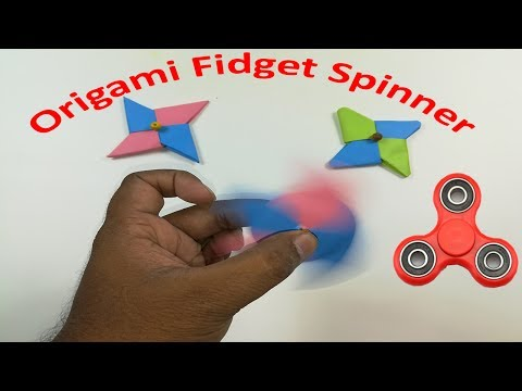 Origami Fidget Spinner   How to make a Fidget Spinner without a bearing: DIY Fidget Spinner easy