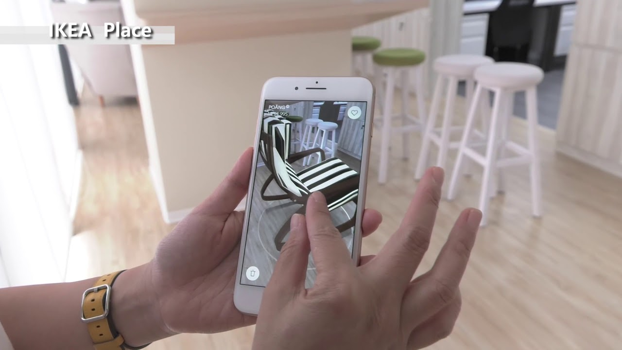 Arkit App Ikea Place Preview Furniture Placed On Iphone