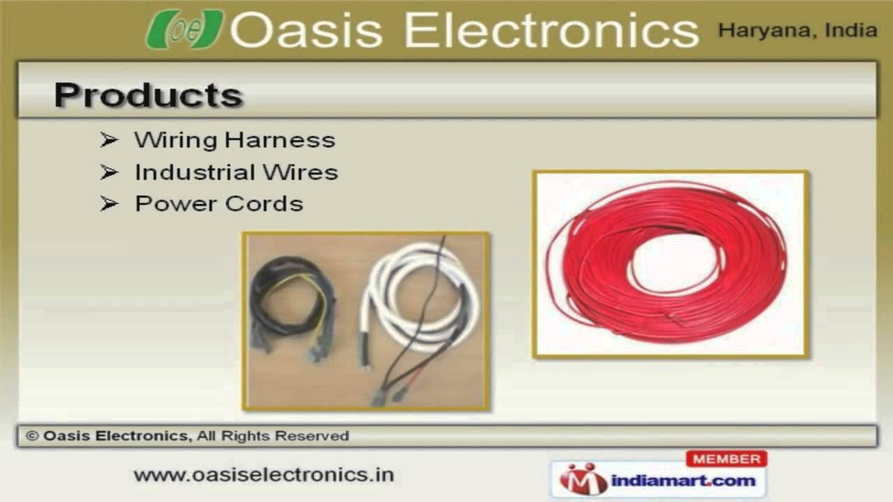 power cords wiring harness by oasis electronics gurgaon [ 1280 x 720 Pixel ]
