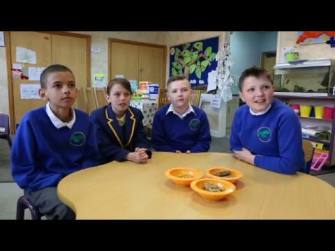 "Grove Street Primary School pupils say ""eat breakfast""!"