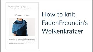 "Pattern Knitting ""Wolkenkratzer"" English"