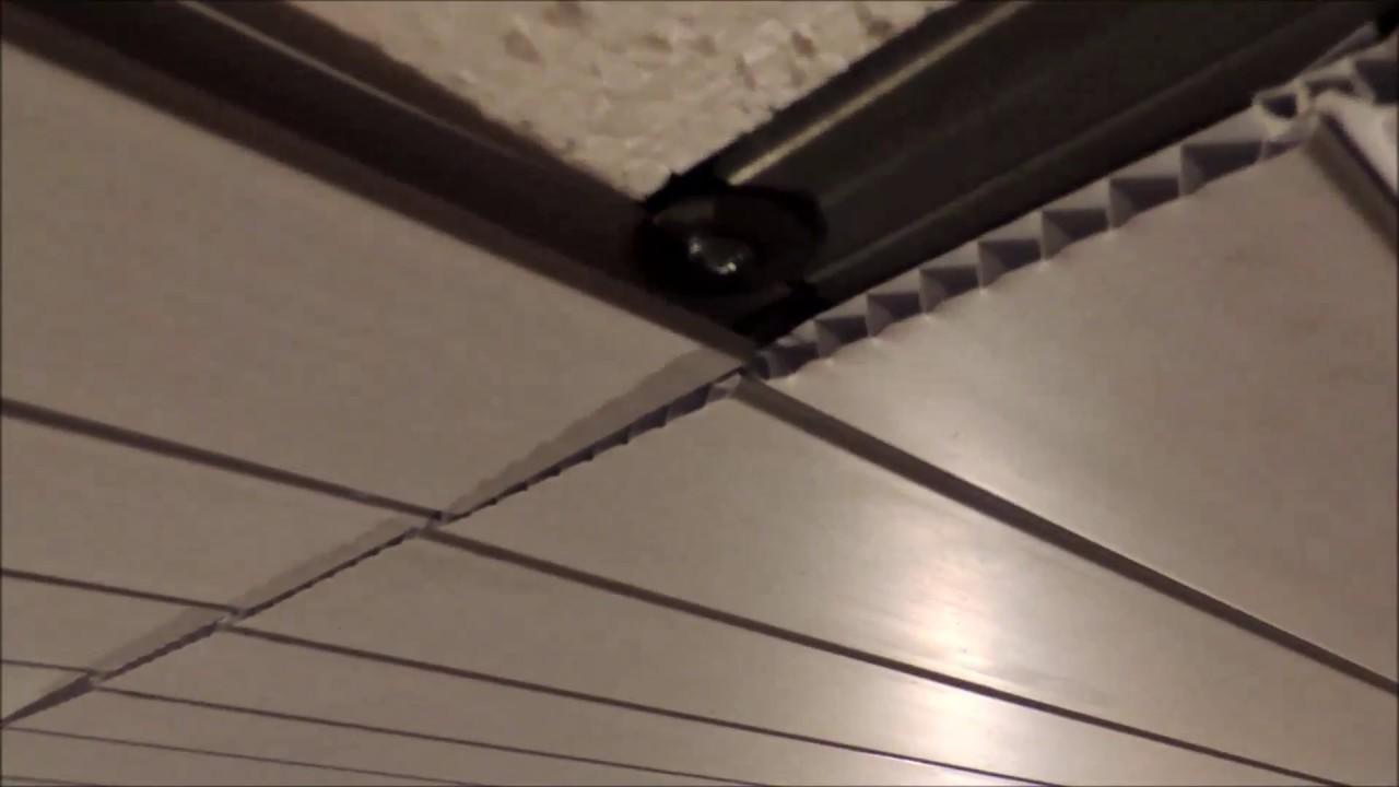 Потолок в гараж из пластиковых панелей стеллаж для колес в гараж купить