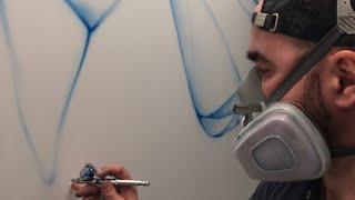 Аэрография.Роспись стен в офисе. Aerography.painting in the interior