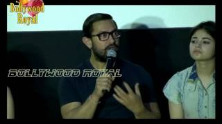 Aamir Khan Launches 'Dangal' Song With Nitesh Tiwari, Zaira Wasim & Suhani Bhatnagar Part 5