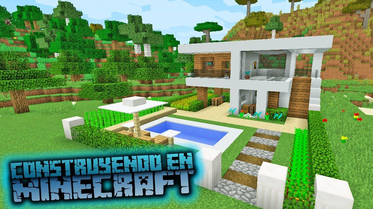 Como Hacer Una Casa Moderna De Hormig N En Minecraft
