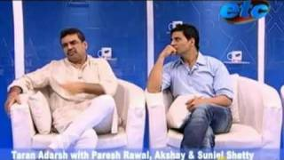 Taran Adarsh With Paresh Rawal Akshay & Suniel Shetty_Part 1