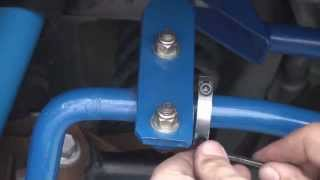 2005 - 2014 Ford Mustang Granatelli Motor Sports Sway Bar Clamp Install