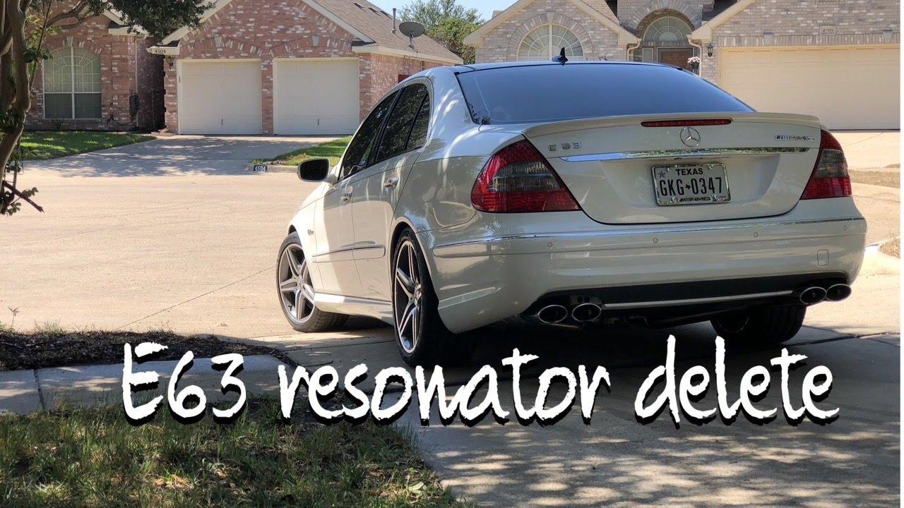 e63 amg exhaust resonator delete w211 youtube. Black Bedroom Furniture Sets. Home Design Ideas