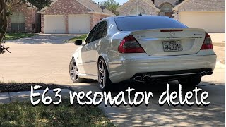 e63 amg exhaust resonator delete w211