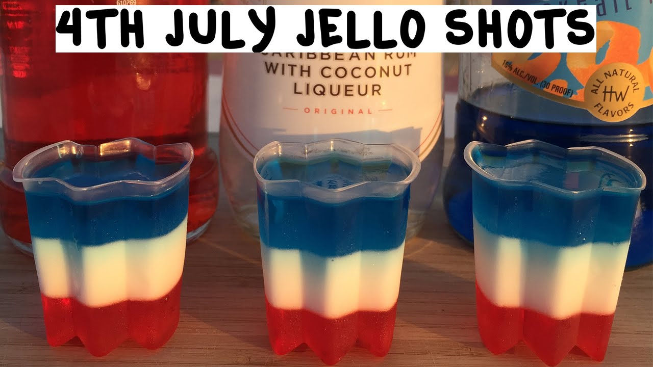 4th Of July All American Jello Shots Tipsy Bartender Youtube