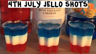 4th of July All American Jello Shots - Tipsy Bartender