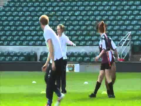 Prince Harry plays rugby  Royal hits the pitch at Twickenham Stadium
