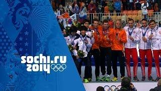 Speed Skating - Men's Team Pursuit - Netherlands Win Gold | Sochi 2014 Winter Olympics