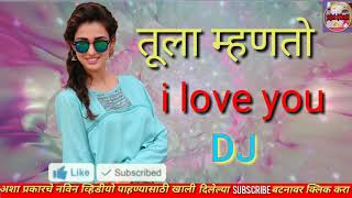 Tula mhanto I love you new marathi dj song