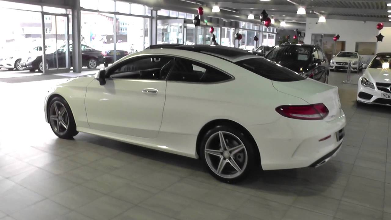 mercedes benz c class coupe 2015 c 220 d amg line coupe u45145 youtube. Black Bedroom Furniture Sets. Home Design Ideas