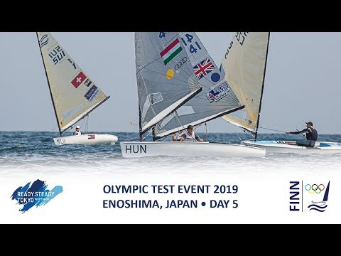 Highlights from the Finn class on Day 5 of Ready Steady Tokyo - the 2019 Olympic Test Event