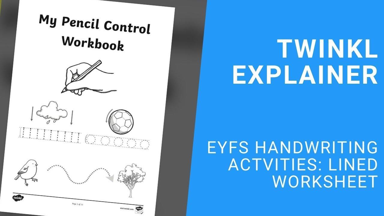medium resolution of Handwriting Sheets: Lined Worksheet - KS1 Primary Resources
