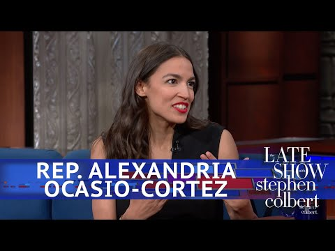 "Rep. Alexandria Ocasio-Cortez explains her 70-percent marginal tax rate on ""The Late Show with Stephen Colbert."""