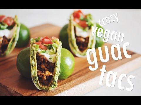 CRAZY VEGAN GUAC TACS | hot for food