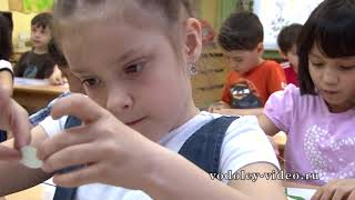 Урок аппликации в детском саду