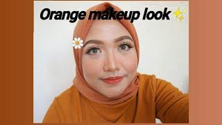 Orange makeup look✨   untuk wisuda, perpisahan sekolah, dll   tahan lama