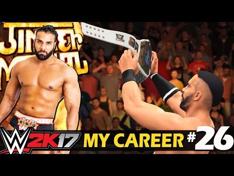 """WWE 2K17 My Career Hindi #26 """"Intercontinental Champion"""" - Rise Of Jinder Mahal (PS4 Gameplay)"""