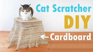 DIY Cardboard Cat Scratcher  Tree Stumpshaped