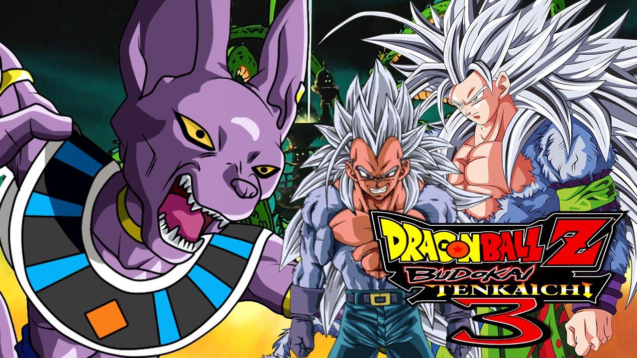 Lord Beerus Vs Super Saiyan 5 Goku Vegeta Dragon Ball Z Budokai Tenkaichi 3 Mods Youtube