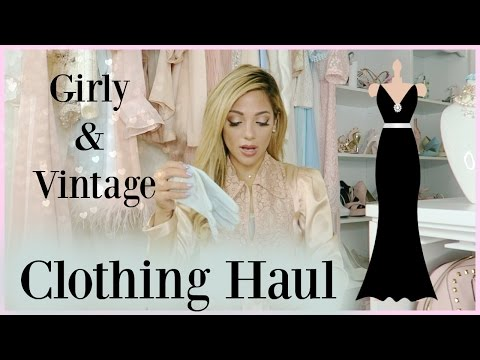 Girly Clothing Haul 2016 | blush, rose golds, & vintage