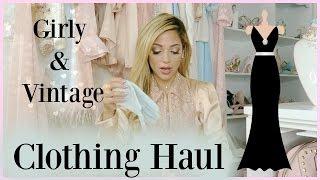 Girly Clothing Haul 2016   blush, rose golds, & vintage