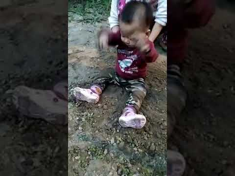 Baby Cute Jelso enjoying his play with mud and ended up eating soil.haha.