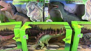 Dinosaurs  Jurassic World & Dinosaur Toys VELOCIRAPTOR VS TYRANNOSAURUS REX !!! Toys for kids