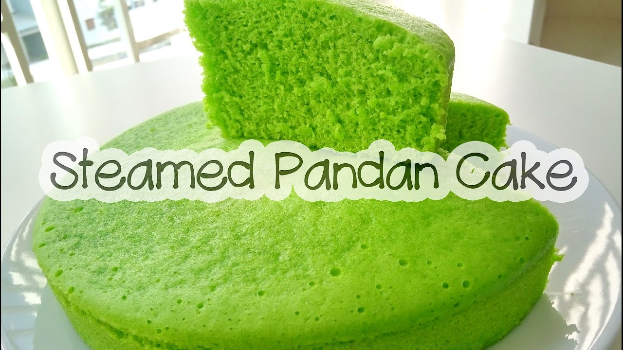 How to make STEAMED PANDAN CAKE | KEK PANDAN KUKUS - YouTube