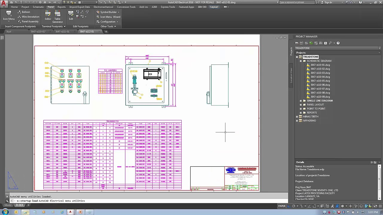Autocad Electrical Working With Projects Youtube Home House Circuit Symbols And Design Layout Diagram Of