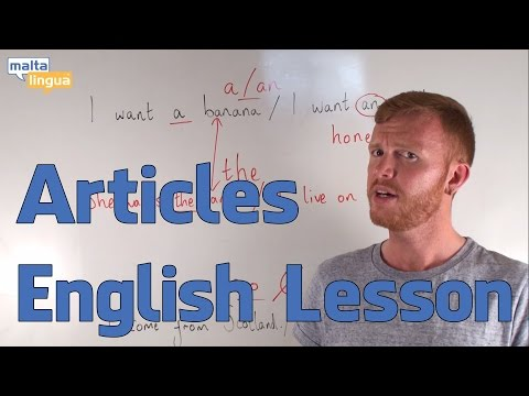 Articles - English Grammar Lesson (Pre-Intermediate)