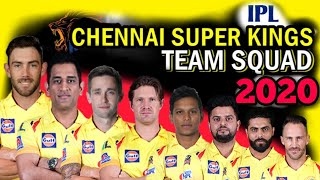 Vivo IPL 2020 : Chennai Super Kings Full Squad   Csk Probable Squad 2020   CSK Player List