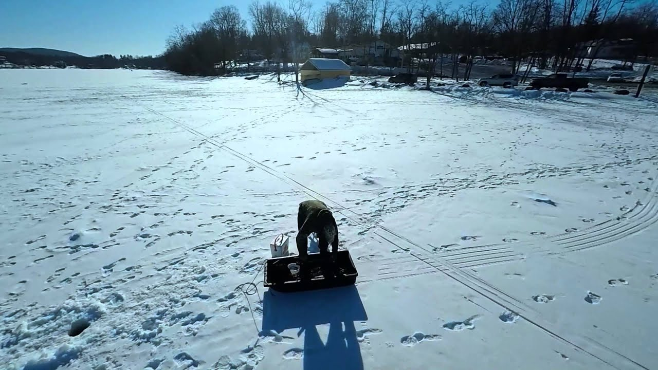 Walton lake ice fishing youtube for Idaho ice fishing report