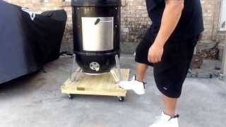 Build A Rolling Base For A Weber Smokey Mountain