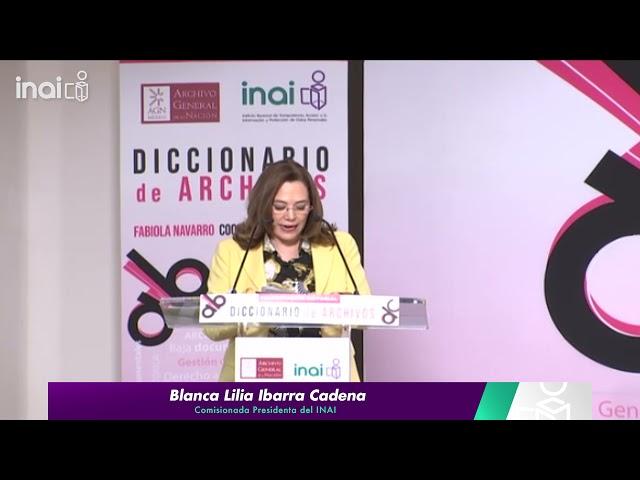 #INAIalMomento BLIC - Presentación del Diccionario de Archivos