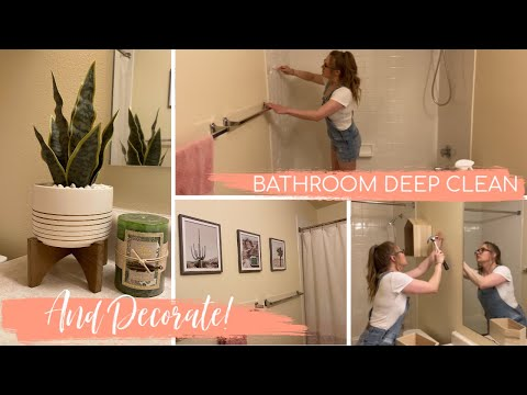 ✨🌵  BATHROOM DEEP CLEAN AND DECORATE 🌵✨ Deep Clean #WithMe | Bathroom Decor | DISGUSTING DISCOVERY 😧