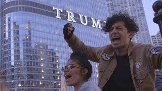 Anti-Trump protests flare in Chicago