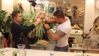 Мастер-класс Славы Роска: Свадебный букет на каркасе